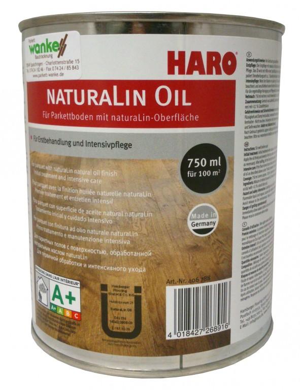 haro naturalin oil 750 ml pflege reinigung f r parkett. Black Bedroom Furniture Sets. Home Design Ideas