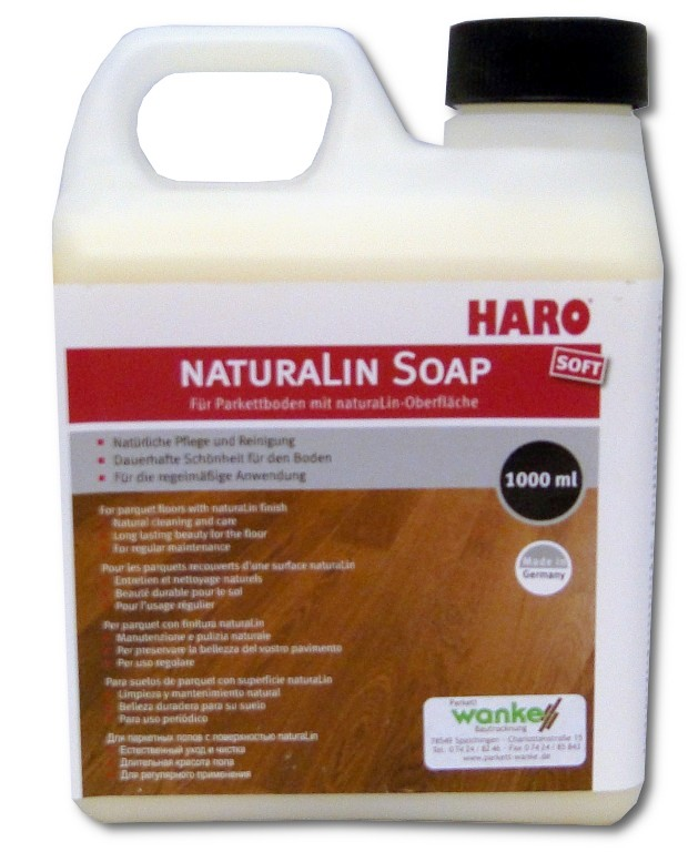 haro naturalin soap 1 l pflege reinigung f r parkett. Black Bedroom Furniture Sets. Home Design Ideas